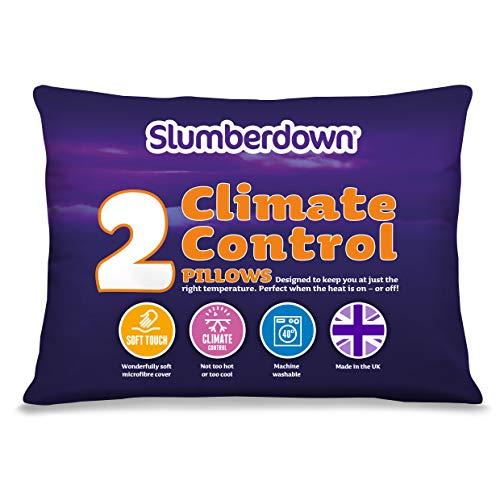 Slumberdown Climate Control Pillows x 2, White