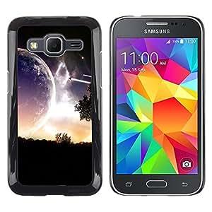 LECELL -- Funda protectora / Cubierta / Piel For Samsung Galaxy Core Prime SM-G360 -- Sci Fi Romantic Planet --