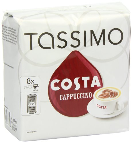 tassimo costa cappuccino 16 t discs large cup size 8 servings buy online in uae grocery. Black Bedroom Furniture Sets. Home Design Ideas