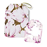 Jillson Roberts All-Occasion String-Tie Gift Tags, Magnolia Blossoms, 24 Count (TS159)