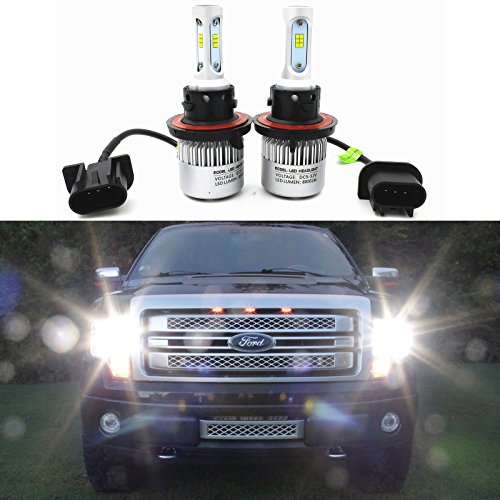 LEDpartsNow Super Bright H13 6000K White LED Bulbs Dual High Low Beam Headlight Conversion Kits for 2004~2014 Ford F150 F250 F350 F450 F550/ 2005-2017 F-250 / F-350/ F-450 / F-550 Super Duty
