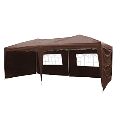 9TRADNG 10' X 20' Outdoor Patio Gazebo EZ POP UP Party Tent Wedding Canopy with Carry Bag, Coffee : Garden & Outdoor