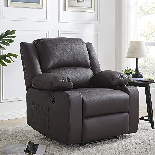 Thomasliving Premium Leather Recliner-Heavy Duty Chair