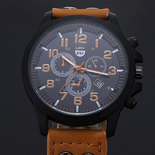code promo e5819 c7be3 KiyomiQaQ Montre Homme Analogique Quartz Montre Bracelet ...