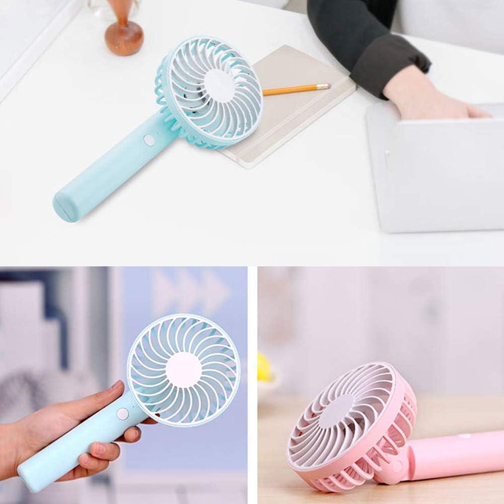 yanQxIzbiu New Portable Handheld Fan Mini Fan with Stand Base USB Fan Blower Indoor Fan for Laptop Blue