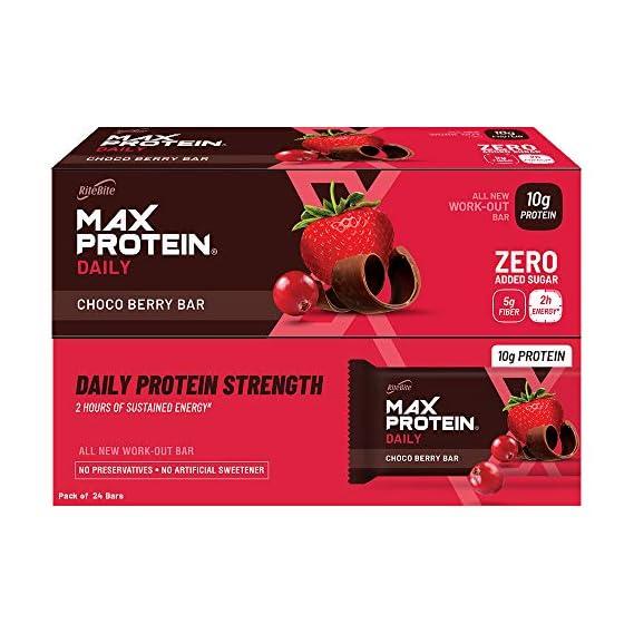 RiteBite Max Protein Daily Choco Berry Bars (Choco Berry Pack 24)