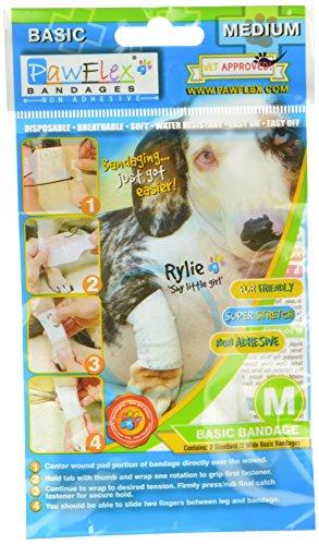 Pawflex Bandages Basic Bandages for Pets (2 Standard, 2 Wide) Medium