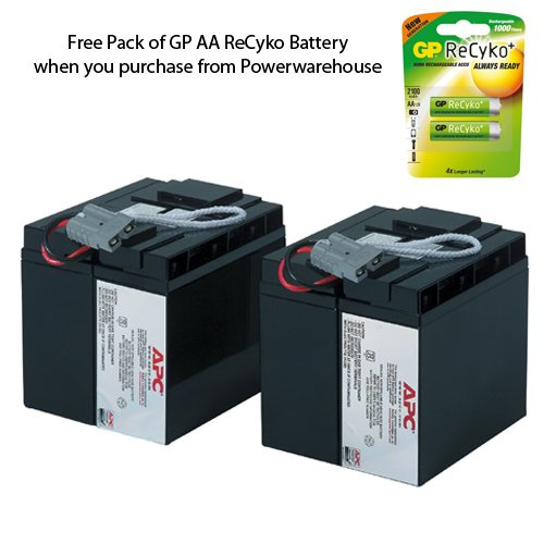 APC SU3000 Battery 12V, 18Ah - Genuine APC RBC11 Cartridge #11 Maintenance-Free Lead Acid Battery
