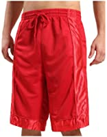 OLLIN1 Mens Active Basketball Short Pants with Elastic Waistband