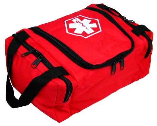 Dixie EMS First Responder Fully Stocked Trauma First Aid Kit Red