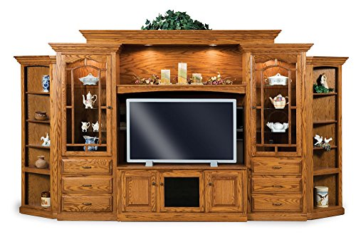 New Hickory Wholesale Large Traditional Entertainment Center Solid Wood Hoosier Heritage (68-1/2