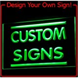 tm ADV PRO Custom Signs/ Neon Signs/ LED Signs/ Edge Lit Signs/ Your Own Design (400x300mm, Blue)