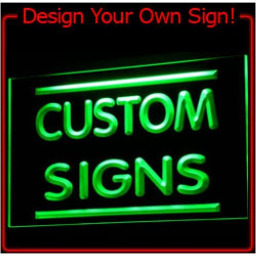 tm ADV PRO Custom Signs/Neon Signs/LED Signs/Edge Lit Signs/Your Own Design (400x300mm, Blue) - Edge Lit Led Sign