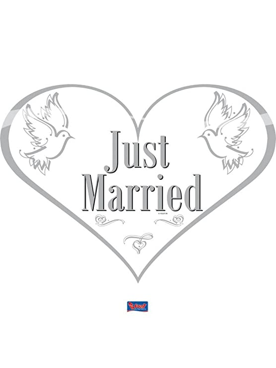 Folat Puerta Cartel Just Married Boda Corazón: Amazon.es: Hogar