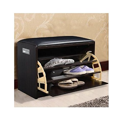 New Wood Shoe Storage Entryway Cabinet Bench Ottoman Closet