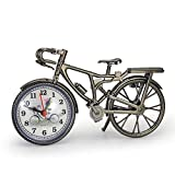 GardenHelper Antique Crafts Retro Vintage Style Bicycle Desk & Shelf Clock Modern Home Office Decoration Tabletop Display Ornament
