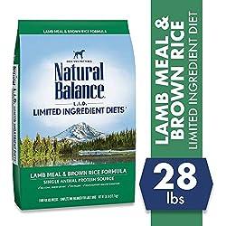 Natural Balance L.I.D. Limited Ingredient Diets Dry Dog Food, Lamb Meal & Brown Rice Formula, 28 Pound