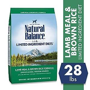 Natural Balance L.I.D. Limited Ingredient Diets Dry Dog Food, Lamb Meal & Brown Rice Formula, 4.5-Pound