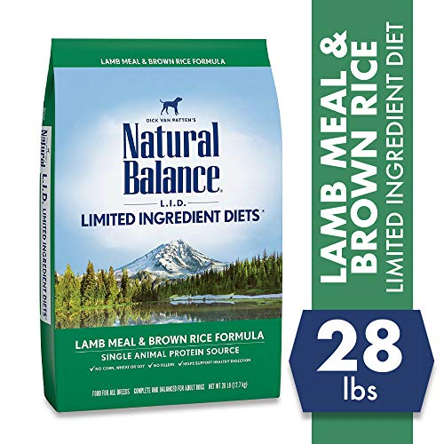 Natural Balance L.I.D. Limited Ingredient Diets Dry Dog Food, Lamb Meal & Brown Rice Formula, 28 Pound