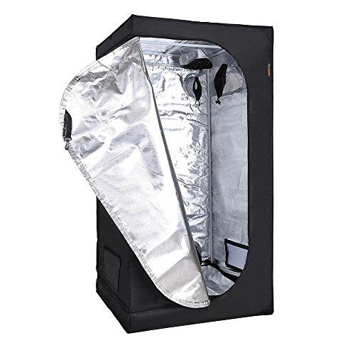 "51KJV%2BNmrpL - LAGarden 32x32x63"" Hydroponics Grow Tent 100% Reflective Diamond Mylar Oxford Indoor Plant Growing Non Toxic Room"