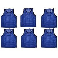 BlueDot Trading 6 azul adultos pinnies-6 chalecos de entrenamiento de scrimmage