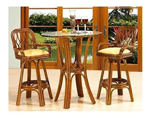 Rattan Mahogany Table (Boca Rattan 200654-OG-66186-O-253157 Coco Cay Rattan Bistro Table Set Urban Mahogany, 642, Brown)