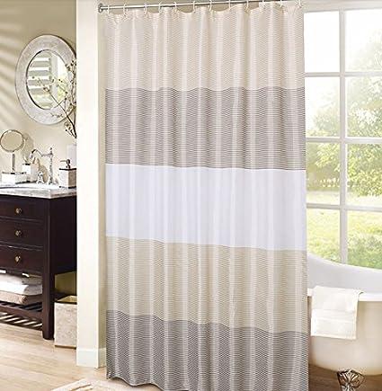 Amazon Stripe Shower Curtain Romantic Home Decor Fabric