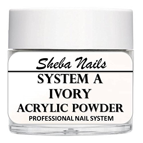 - SHEBA NAILS System A Acrylic Nail Powder IVORY- 16oz Jar
