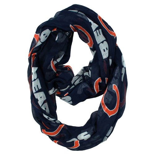 Chicago Bears Little Earth Productions Sheer Infinity Scarf - Fashion Stores Outlet Chicago
