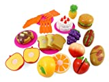 Liberty Imports Kitchen Fun Cutting Fruits & Fast Food Playset for Kids