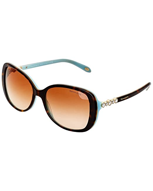 e2e3d6b1b44 Tiffany TIFFANY COBBLESTONE TF 4121B HAVANA BROWN SHADED women Sunglasses   Amazon.ca  Clothing   Accessories