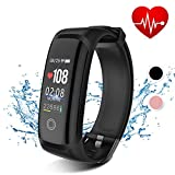 Aidiado Fitness Tracker HR with Blood Pressure Monitor,Waterproof Activity Tracker Watch with Heart Rate Monitor,Smart Watch with Step Calorie Counter,Pedometer Wrist Band for Women Men and Kids