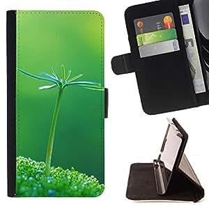 For Samsung Galaxy Note 5 5th N9200 Case , Pianta Natura Verde botanico - la tarjeta de Crédito Slots PU Funda de cuero Monedero caso cubierta de piel