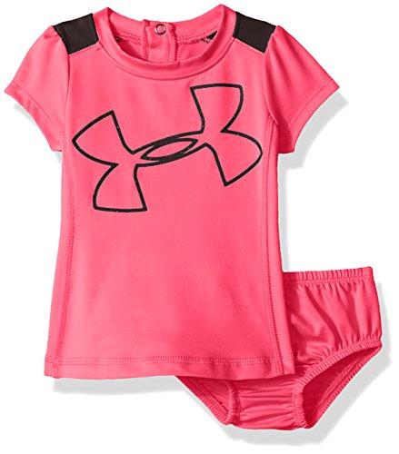 Under Armour Tennis Skirt - Under Armour Baby Girls' Big Logo Dress, Pink Punk, 18M