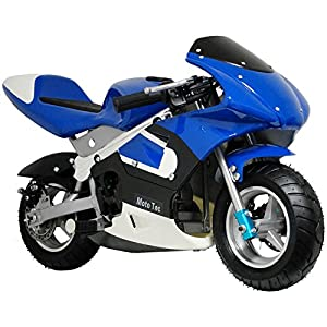 MotoTec Gas Pocket Bike Riding Toy - Non CA compliant.