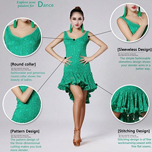 Vestiti Color M Swing xl Retro Fronte Lungo Prestazione Pizzo Breve Danza Pink Latina Wqwlf Di Donna Solid Da qwxtXnTfZ6