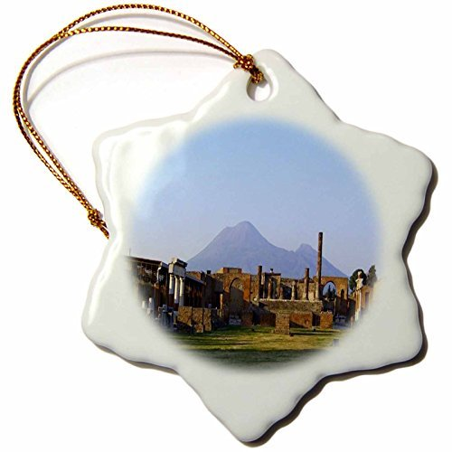 Snowflake OrnamentVesuvius Volcano at Pompeii Italy Snowflake Decorative Hanging Ornament, ()