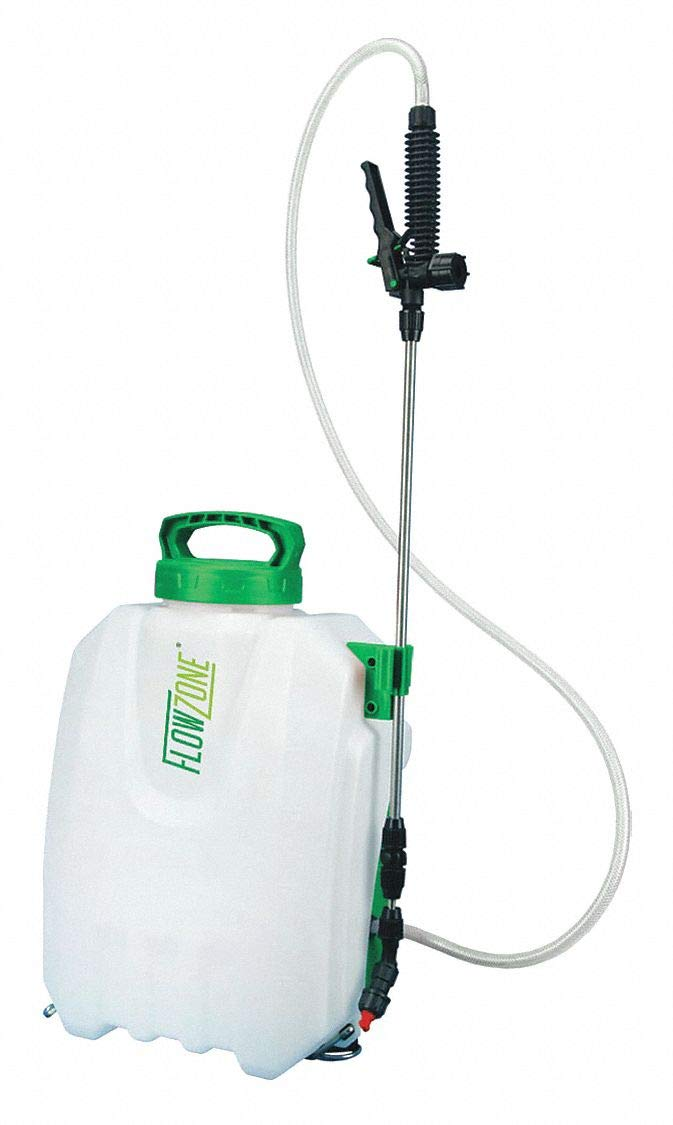 Backpack Sprayer, Polyethylene Tank Material, 2-1/2 gal, 60 psi Max Sprayer Pressure by FLOWZONE