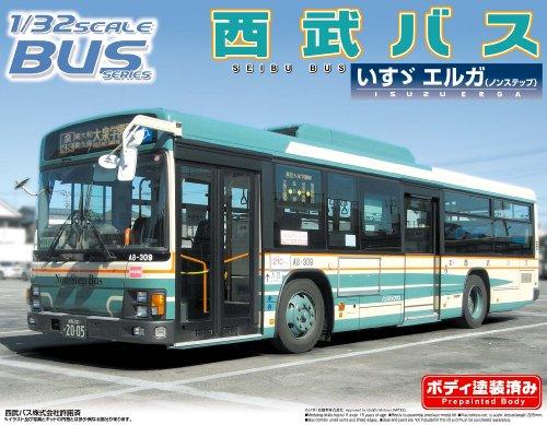 Seibu Bus (Isuzu Erga) (Model Car) Aoshima Bus|No.31 1/32 Aoshima Bus