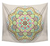 Fensajomon Wall Hanging Indain Hippie Mandala Tapestry Psychedelic Bohemian Beach Towels Blankets Wall Hangings Tapestry 1 a