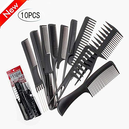 (10 Pieces Styling Comb Set,Anti-static Hair Combs;Mkcase Professional Styling Comb Set well with all hair styling & chemical treatments hair Styles for Salon Barber)