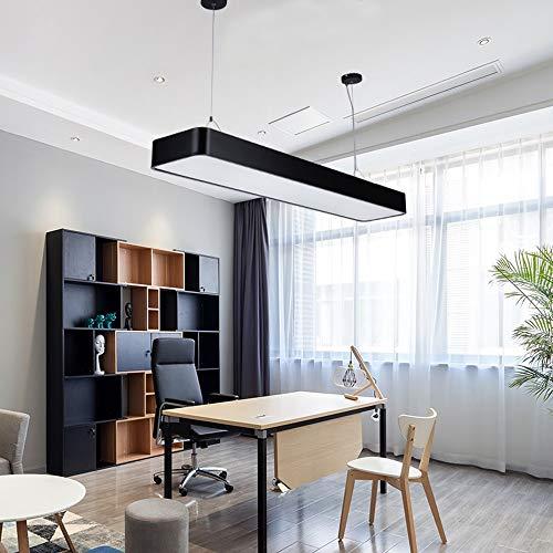 Rcircle Modern Pendant Lights Office LED Black Chandelier Ceiling Flush Hanging Lamp Fixture for Living Room Hotel Entrance Laundry Market Hospitals Factories Garage Indoor Art Decor (Color : ()