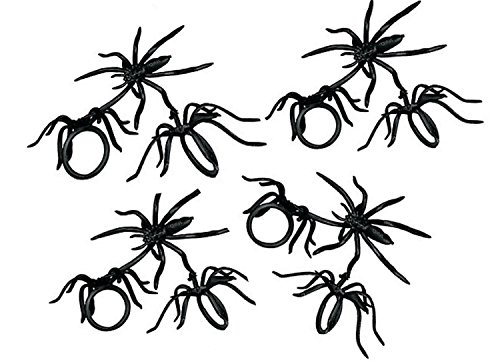 Spider Rings Halloween Party Favors Loot Trick-or-treat Giveaway (Lot of 144)