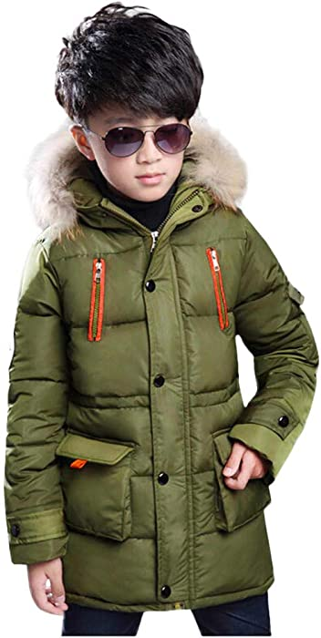 d4c5641db Amazon.com: Little Boy Girl Hooded Down Coat Clearance-Iuhan Kid ...