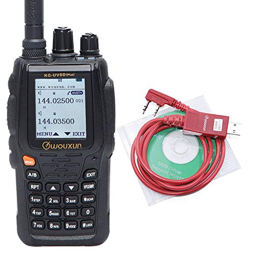 Wouxun KG-UV8D Plus Cross Band Repeater Duplex Work Mode Dual Receiving VFH UHF Dual Band 999 Memory Channels Voice Encryption Two Way Radio +Programming Cable