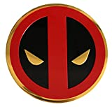 C&D Visionary Marvel Extreme Classic Deadpool Icon On Gold Metal Sticker