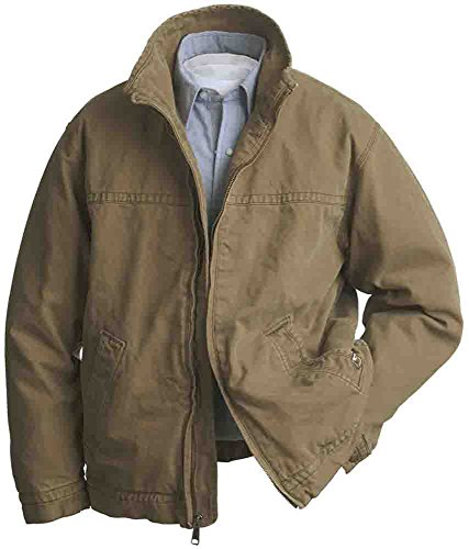 DRI Duck Men's Maverick Work Jacket Big and Tall Khaki XXX-Large (Play Barn Equipment)