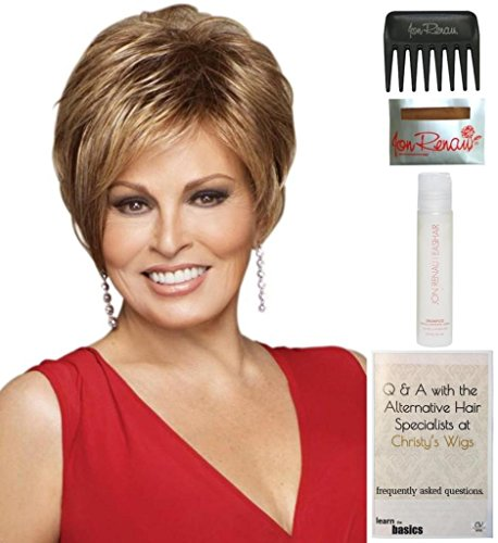 Bundle - 5 items: Cinch by Raquel Welch Wig, 15 Page Christy's Wigs Q & A Booklet, Wig Shampoo, Wig Cap & Wide Tooth Comb (Color Selected: R14/25) by Raquel Welch & Christy's Wigs