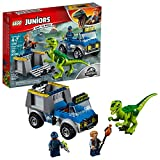 LEGO Juniors/4+ Jurassic World Raptor Rescue Truck 10757 Building Kit (85 Piece) For Sale