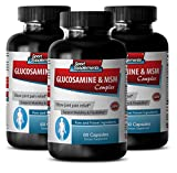 Product review for metabolism pills - GLUCOSAMINE & MSM 3200MG - msm miracle - 3 Bottle (180 Capsules)